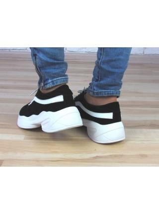 Женские кроссовки Haries 307/1 черная замша