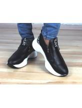 Женские кроссовки Haries 337 черная кожа