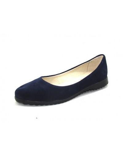 Женские балетки Haries 112 замш синий