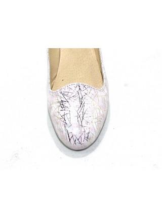 Женские балетки Haries 117 елка серебро