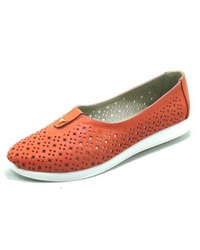 Женские туфли Haries 119/1 кожа коралл