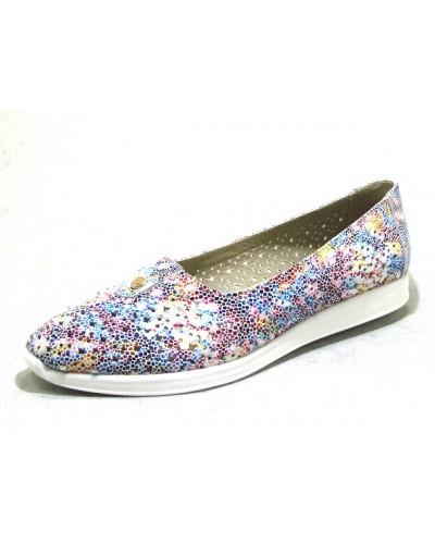 Женские туфли Haries 119/1 цветок белый