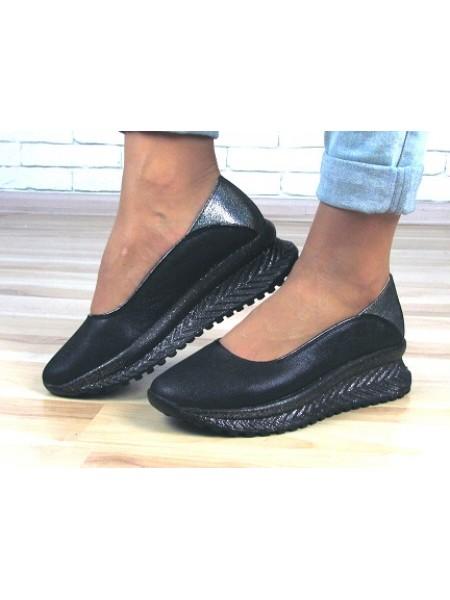 Женские туфли Haries 113T синий сатин