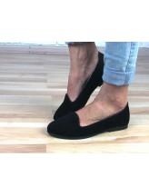 Женские балетки Haries 117 черная замша