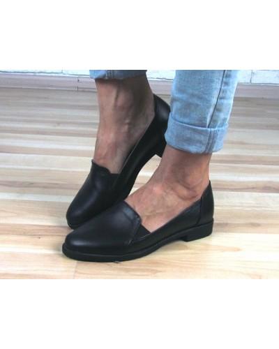 Женские туфли Haries 114 черная кожа
