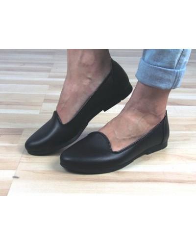 Женские балетки Haries 117 черная кожа