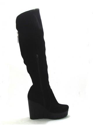 Женские сапоги Haries 705Т замша черный