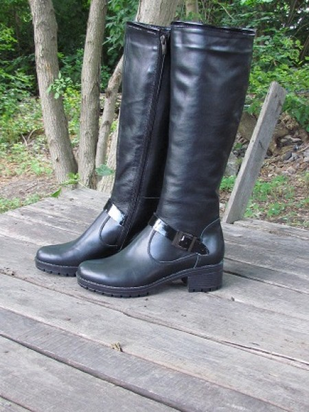 Женские сапоги Haries 679 кожа черный