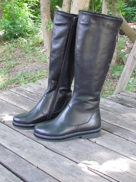 Женские сапоги Haries 702 кожа черный