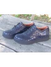 Женские туфли Haries 350 ромб синий
