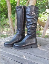 Женские сапоги Haries 797 кожа черный
