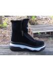 Женские ботинки Haries 640 замш черный