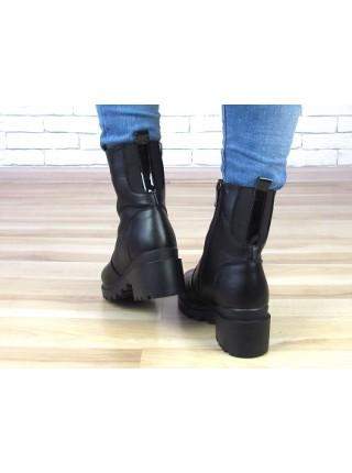 Женские ботинки Haries 378 черная кожа