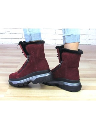 Женские ботинки Haries 640 замш бордо