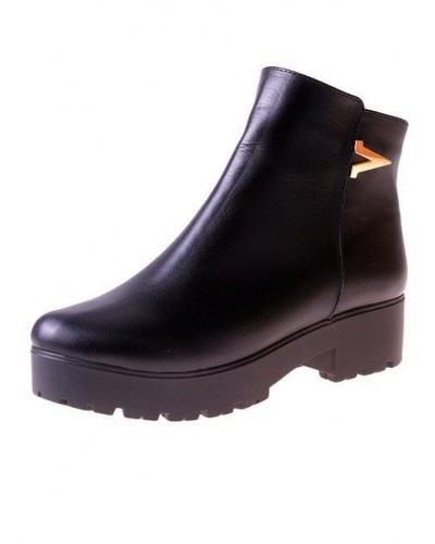Женские ботинки Haries 220 кожа черный