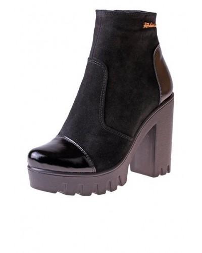 Женские ботинки Haries 87/1 замш черный