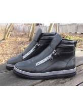 Женские ботинки Haries 340/1 кожа черный