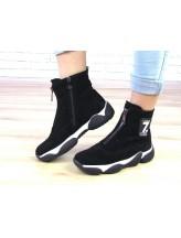 Женские ботинки Haries 470 черная замша