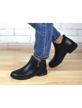 Женские ботинки Haries 214 кожа черный