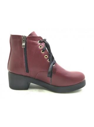 Женские ботинки Haries 225/2 кожа бордо
