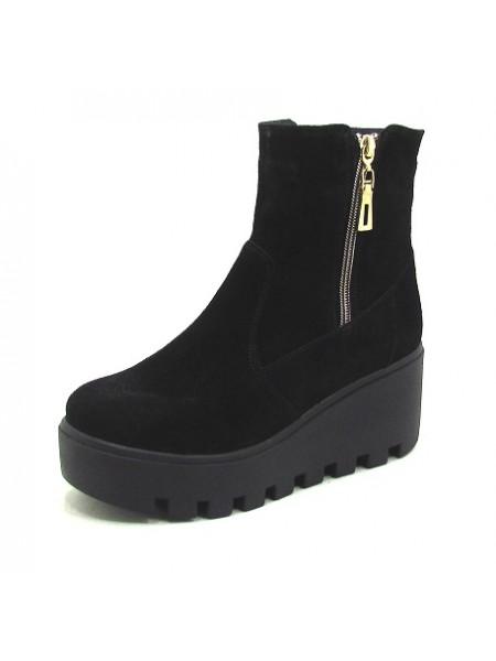 Женские ботинки Haries 537 замш черный