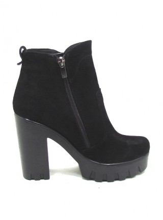 Женские ботинки Haries 787 замш черный