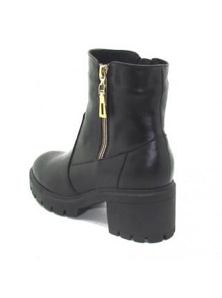 Женские ботинки Haries 537/4 кожа черный