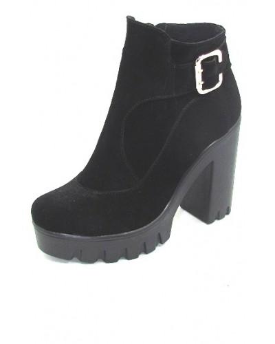 Женские ботинки Haries 84 замша черный