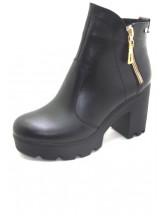 Женские ботинки Haries 787/2 кожа черный