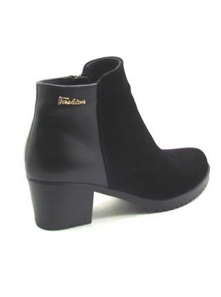 Женские ботинки Haries 220/1 замш+кожа черный