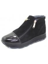 Женские ботинки Haries 237/2 замш черный