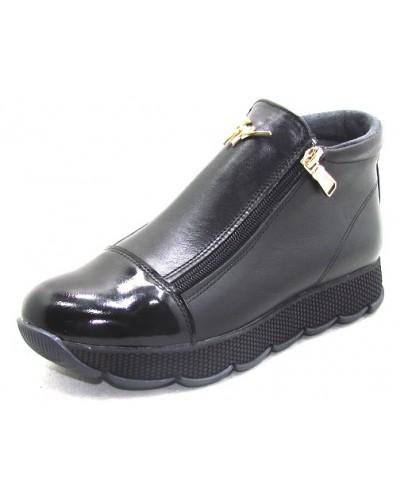 Женские ботинки Haries 237/2 кожа черный