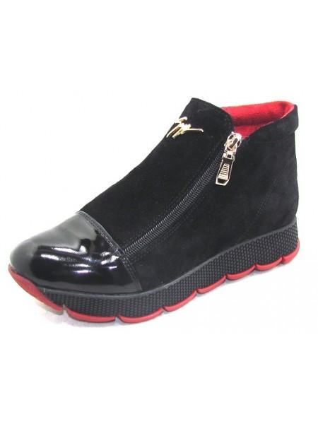 Женские ботинки Haries 237/2К замш черный