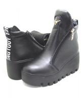Женские ботинки Haries 637 кожа черный