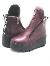 Женские ботинки Haries 637 кожа бордо