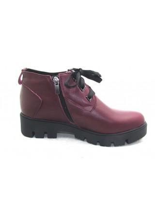 Женские ботинки Haries 215/1 кожа бордо