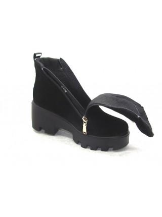 Женские ботинки Haries 637/3 замш черный