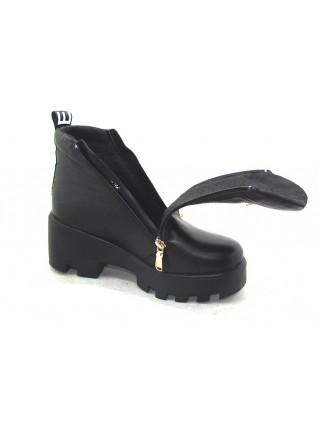 Женские ботинки Haries 637/3 кожа черный