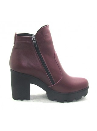 Женские ботинки Haries 787/2 кожа бордо