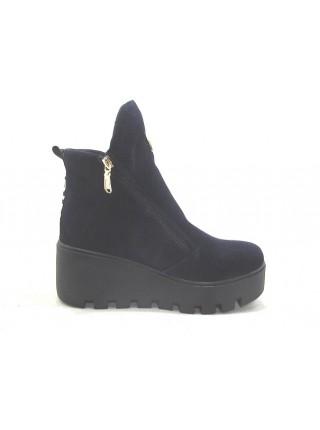 Женские ботинки Haries 637з замш синий