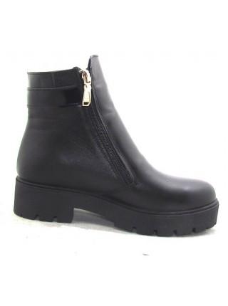 Женские ботинки Haries 312/2 кожа черный