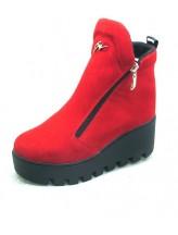 Женские ботинки Haries 637 замш красный