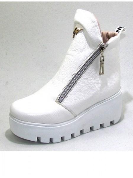 Женские ботинки Haries 637 кожа белый