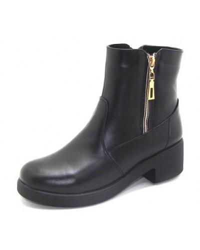 Женские ботинки Haries 537/2 кожа черный