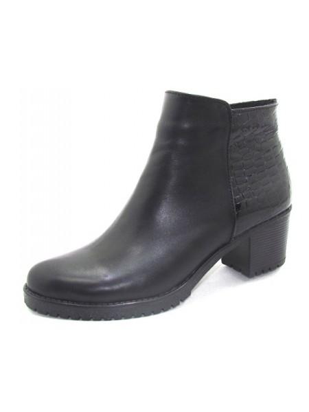 Женские ботинки Haries 220/1 кожа+рептилия черный