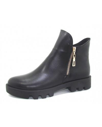 Женские ботинки Haries 222 кожа черный