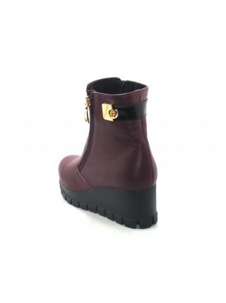 Женские ботинки Haries 312Т кожа бордо