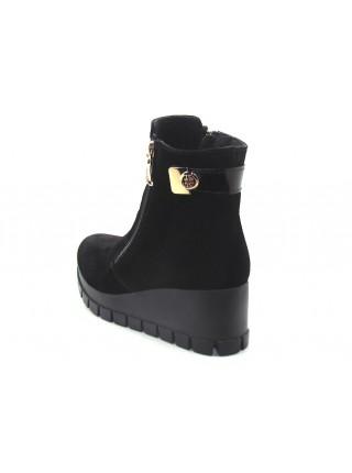 Женские ботинки Haries 312Т замш черный