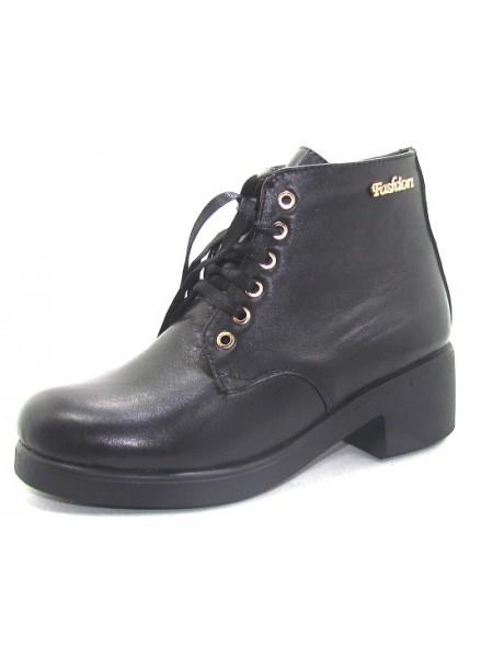Женские ботинки Haries 225/2 кожа черный