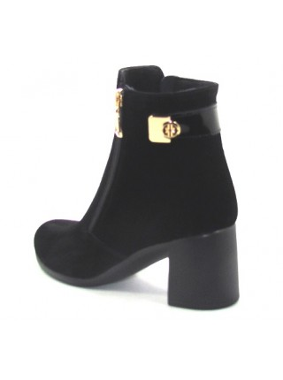 Женские ботинки Haries 312/3 замш черный